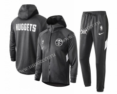 2020-2021 NBA Denver Nuggets Gray With Hat Jacket Uniform-815