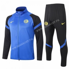 2020-2021 Inter Milan Blue Thailand Soccer Jacket Uniform-815