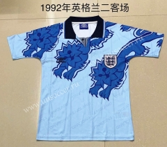 1992 Retro Version England 2nd Away Blue Thailand Soccer Jersey AAA-709