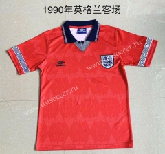 1990 Retro Version England Away Red Thailand Soccer Jersey AAA-709