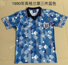 1990 Retro Version England 3rd Away Blue Thailand Soccer Jersey AAA-709