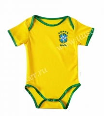 2020-2021 Brazil Home Yellow Baby Thailand Soccer Uniform