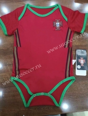 2020-2021 Portugal Home Red Baby Soccer Uniform