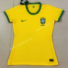 2020-2021 Brazil Home Yellow Female Thailand Soccer Jersey