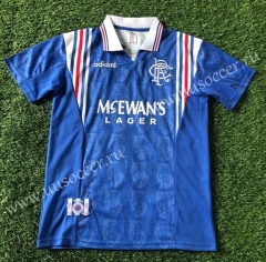1996-1997  Retro Version Rangers Home Blue Thailand Soccer Jersey AAA-503