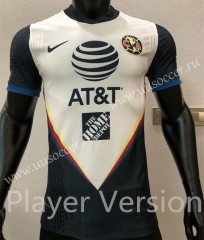 Player Version 2020-2021 Club America Away Black & White Thailand Soccer Jersey AAA-CS