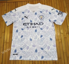 2020-2021 Manchester City 3rd Away Blue & White Thailand Soccer Jersey AAA-807