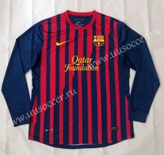 2011-2012 Retro version Barcelona Home Red & Blue Thailand LS Soccer Jersey AAA-SL