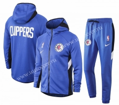2020-2021 Los Angeles Clippers Blue Thailand Soccer Jacket Uniform With Hat-815
