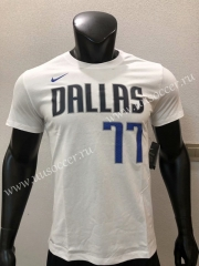 NBA Dallas Mavericks White Cotton T-shirt