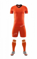 Without logo 2020-2021 Netherlands Home Orange Soccer Uniform