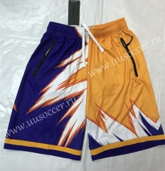 ZK702 Yellow & Purple NBA Shorts