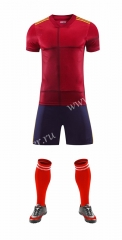 Without logo 2020-2021 Spain Home Red Soccer Uniform