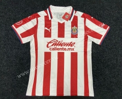 2020-2021 Deportivo Guadalajara Red & White Thailand Soccer Jersey AAA