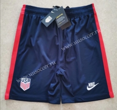 2020-2020 United States Home Royal Blue Thailand Soccer Shorts