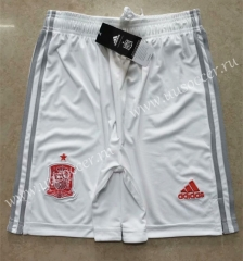 2020-2021 Spain Away White Thailand Soccer Shorts AAA