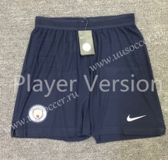 Player Version 2020-2021 Manchester City Royal Blue Thailand Soccer Shorts-701
