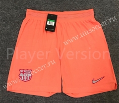 Player Version 2020-2021 Barcelona Pink Thailand Soccer Shorts-701