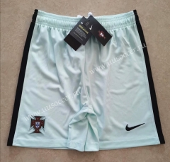 2020-2021 Portugal Away Light Blue Thailand Soccer Shorts