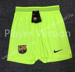 Player Version 2020-2021 Barcelona Fluorescent Green Thailand Soccer Shorts-701