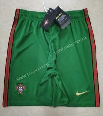 2020-2021 Portugal Home Green Thailand Soccer Shorts