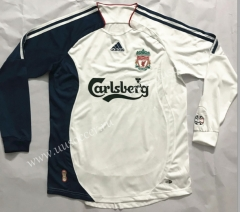 2006-2007 Retro Version Liverpool Away White Thailand LS Soccer Jersey AAA-510