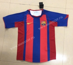 2004-2005 Retro Version Barcelona Home Red & Blue Thailand Soccer Jersey AAA