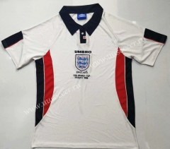 1998 Retro Version England Home White Thailand Soccer Jersey AAA-912