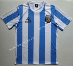 1986 Retro Version Argentina Home Blue and White Thailand Soccer Jersey AAA-912