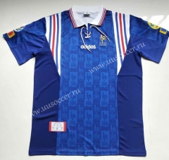 1996  Retro Version France Blue Thailand Soccer Jersey AAA-912
