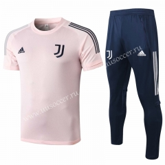 2020-2021 Juventus FC Pink Shorts-Sleeve Thailand Soccer Tracksuit Uniform-815