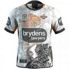 2020 Nine Wests Tigers Away White Thailand Rugby Shirt