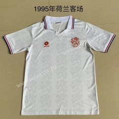 1995 Retro Version Netherlands Away White Thailand Soccer Jersey AAA-AY