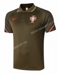 2020-2021 Portugal Army Green Thailand Polo-815
