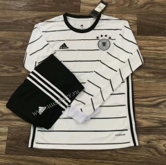 2020-2021 Germany Home White LS Thailand Soccer Jersey AAA