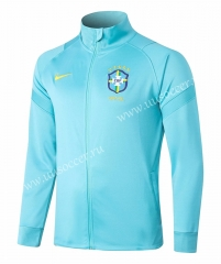 2020-2021 Brazil Blue Soccer Jacket-815
