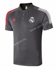 2020-2021 Real Madrid Dark Gray Thailand Polo -815