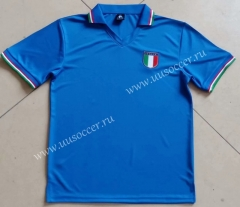 1982 Retro Version Italy Home Blue Thailand Soccer Jersey AAA
