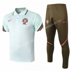 2020-2021 Portugal Light Green Thailand Polo Uniform-815