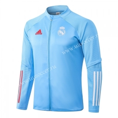 2020-2021 Real Madrid Light Blue Thailand Soccer Jacket -815