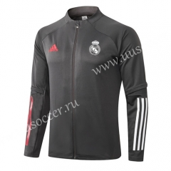 2020-2021 Real Madrid Dark Gray Thailand Soccer Jacket-815