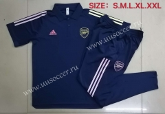 2020-2021 Arsenal Royal Blue Thailand Polo Uniform-815