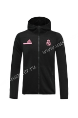 2020-2021 Real Madrid Dark Gray Thailand Soccer Jacket With Hat-815