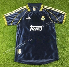 1998-2000 Real Madrid Away Black Thailand Soccer Jersey AAA-503
