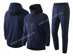 2020-2021 Nike Royal Blue With Hat Soccer Jacket Uniform-815