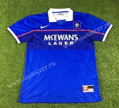 1997-1999 Retro Version Rangers Home Blue Thailand Soccer Jersey AAA-503