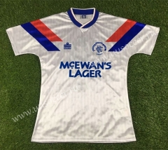 1990-1992 Retro Version Rangers Away White Thailand Soccer Jersey AAA-503