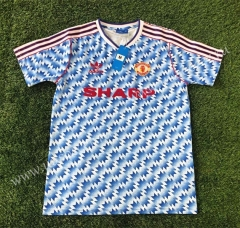 1990-1992 Retro Version Manchester United Blue Thailand Soccer Jersey AAA-503