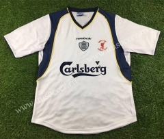 2001 Retro Version Liverpool Away White Thailand Soccer Jersey AAA-503