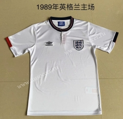 1989 Retro Version England Home White Thailand Soccer Jersey AAA-AY